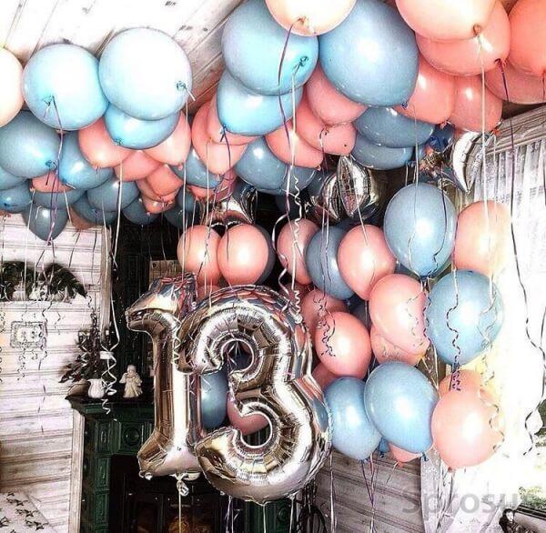 Воздушные фольгированные цифры на День рождения