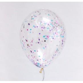 Купить шары с конфетти на день рождения с доставкой по Москве