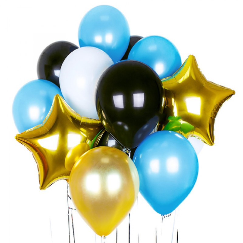 Купить готовые композиции из шаров на день рождение в Москве