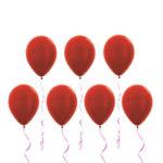 Воздушные шары красного цвета
