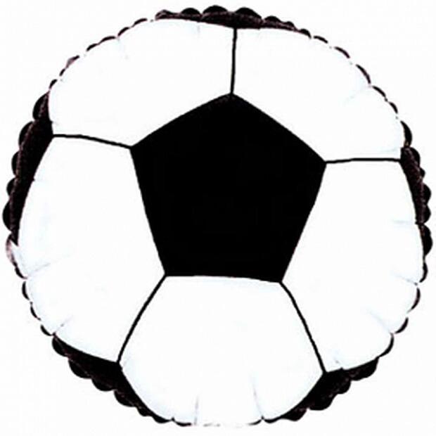 Открытка в форме футбольного мяча