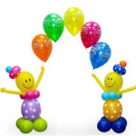 Оформление зала шарами на выпускной детского сада