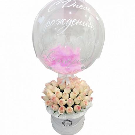 Купить шары с цветами в коробке